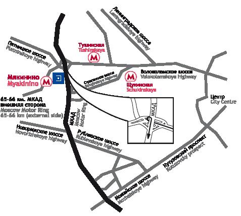 Схема проезда на выставку